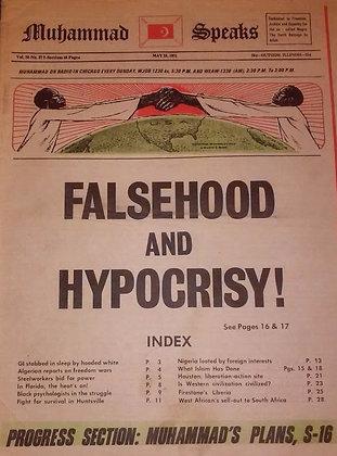 Vintage Muhammad Speaks May 28, 1971