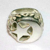 Silver Round Star and Crescent Nugget
