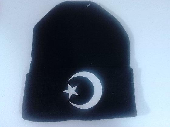 Moon & Star Winter Knit Hat