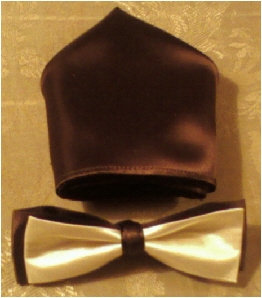 Men's Tu Tone Bow Tie Set