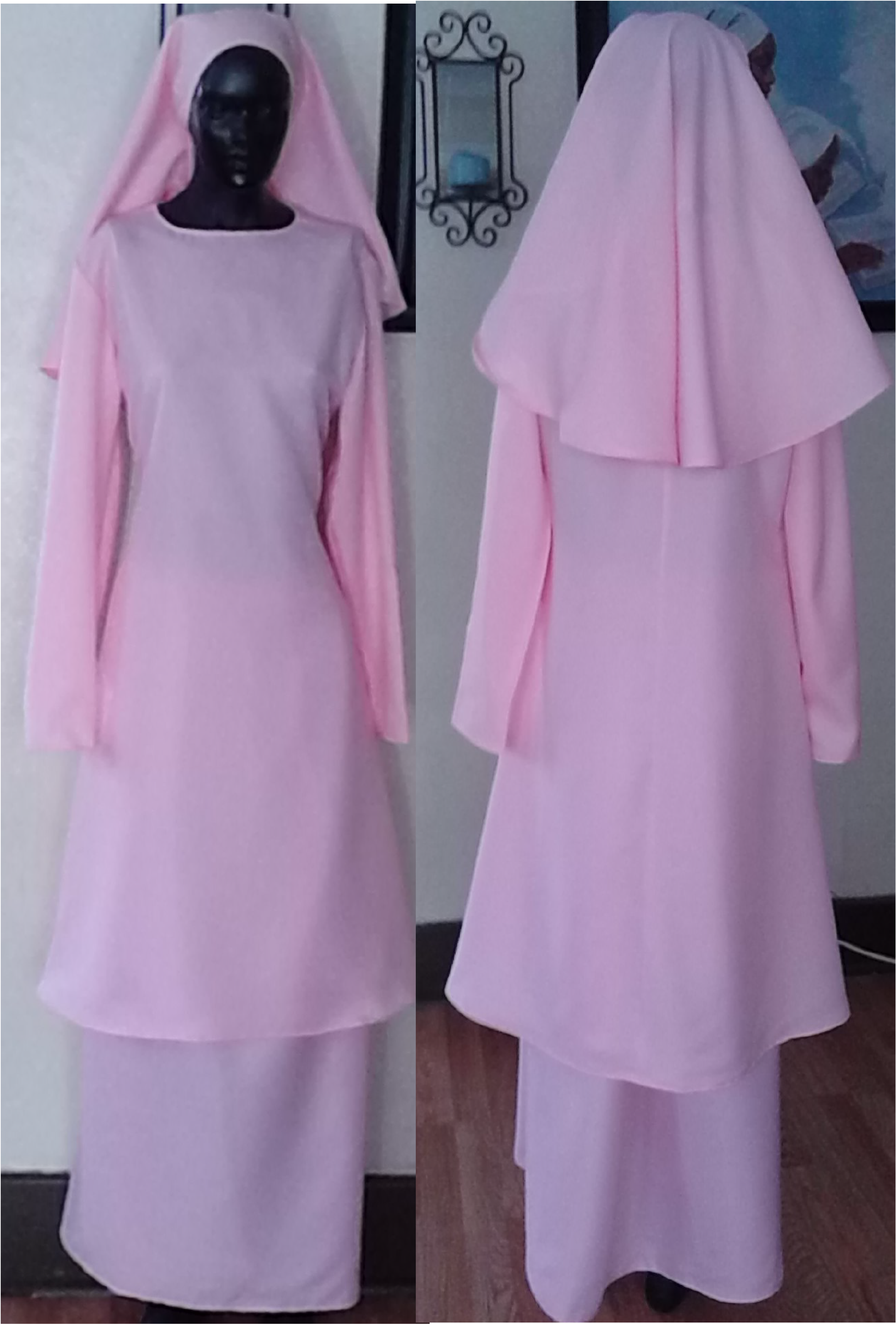 Pink Crepe 3-piece Garment