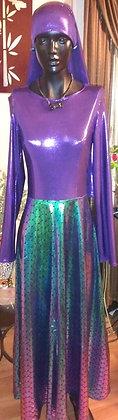 Full Length Purple Mermaid Dress