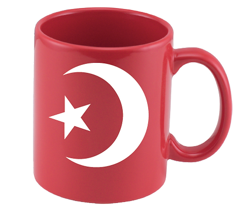 National Red Ceramic Mug