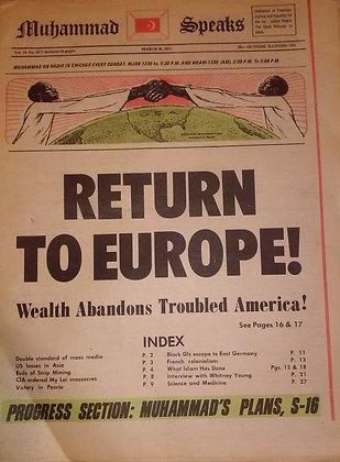 Vintage Muhammad Speaks March 26, 1971