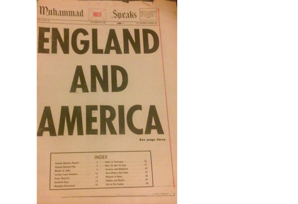 Vintage Muhammad Speaks November 22, 1968