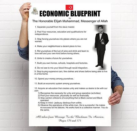 Economic Blueprint Poster