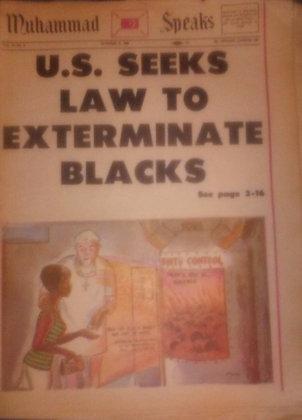 Vintage Muhammad Speaks October 11, 1968
