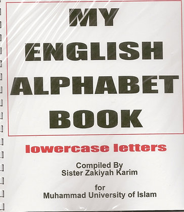 My English Alphabet Book- lowercase Letters