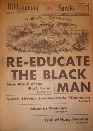 Vintage Muhammad Speaks September 6, 1968