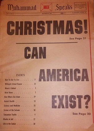 Vintage Muhammad Speaks December 27, 1968