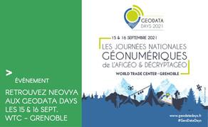 Venez rencontrer Neovya aux GEODATA DAYS les 15 & 16 Sept. au WTC de Grenoble
