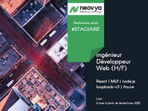 Neovya recherche un(e) Ingénieur Développeur Web