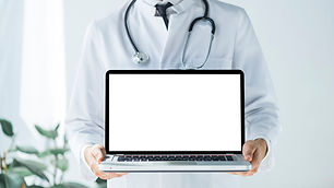 crop-doctor-showing-laptop-with-empty-sc