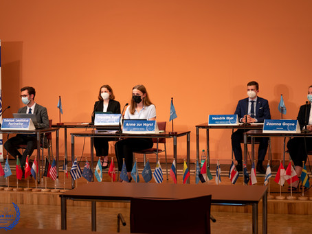 Press conference of the OLMUN 2021