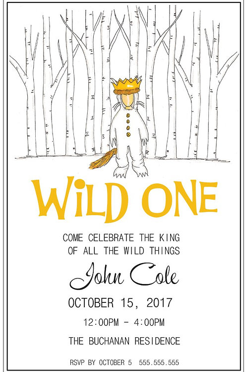 """""""Wild One"""" Set of 10 - 5x7 Notecards"""