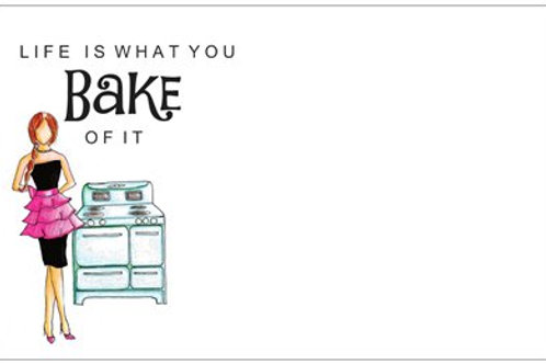 Life IsYou Bake Of It  | 5x7 Notecards set of 10 | Stationery