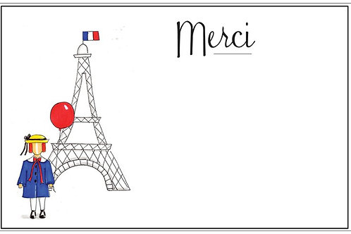 Madeline Merci  | 5x7 Notecards set of 10 | Stationery