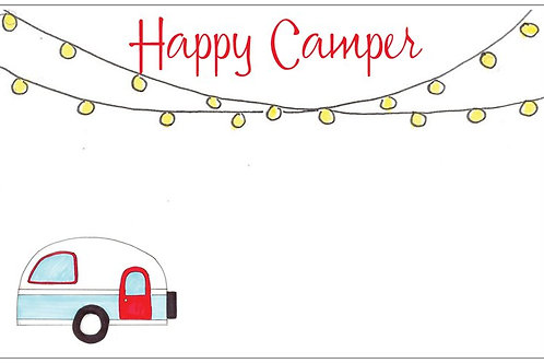 Happy Camper | 5x7 Notecards set of 10 | Stationery