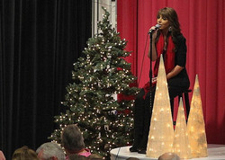 Allie Nicole performs Christmas song
