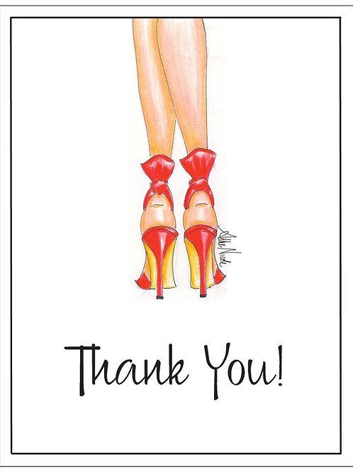 High Heels Thank You Card Set