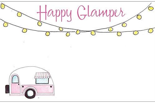 Happy Glamper | 5x7 Notecards set of 10 | Stationery