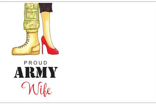 Proud Army Wife | 5x7 Notecards set of 10 | Stationery
