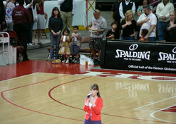 Allie Nicole sings national anthem