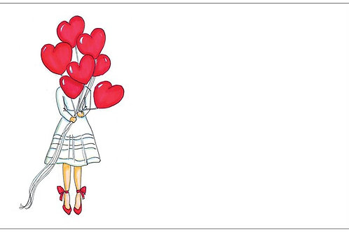 Love Is In The Air   5x7 Notecards set of 10   Stationery