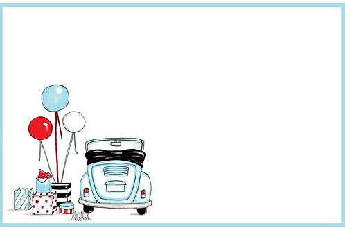 Blue Love Bug | 5x7 Notecards set of 10 | Stationery