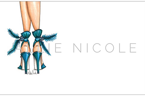 Teal Heels | 5x7 Notecards set of 10 | Stationery