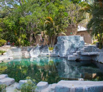 Llegaremos a este balneario alimentado con agua de manantial.