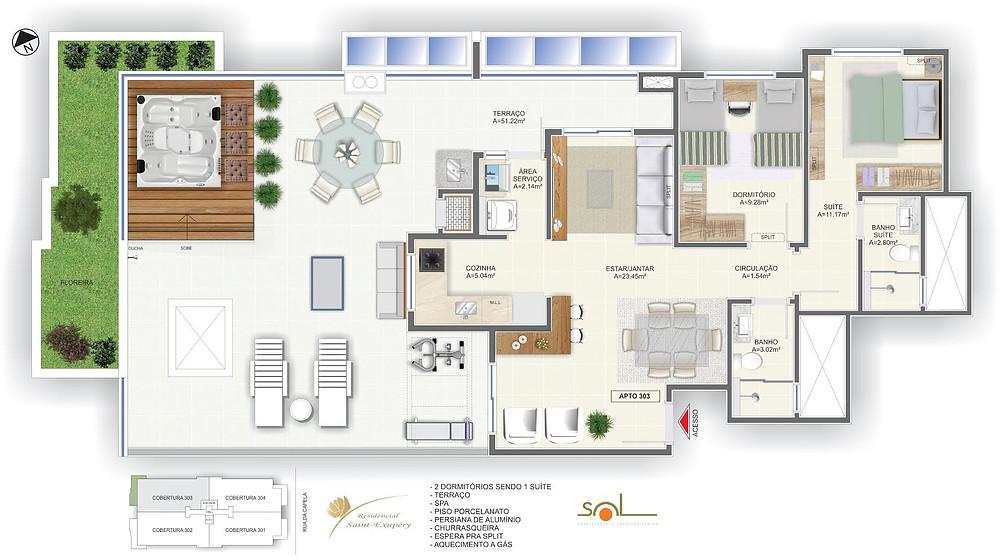Apartamento Cobertura Residencial Saint-Exupéry Campeche Florianópolis