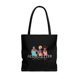 GLOW GETTER Black Tote Bag (Black)
