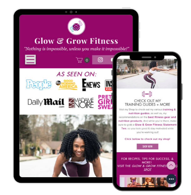 Fitness Brand: Mobile/Tablet