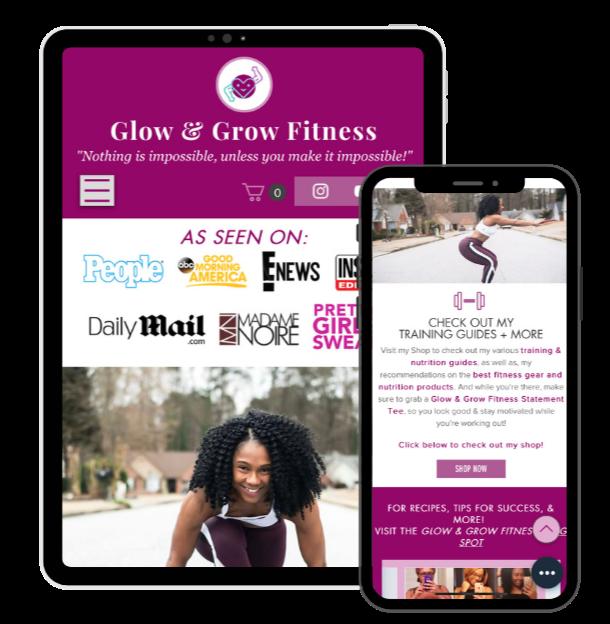 Fitness Brand: Mobile/Tablet