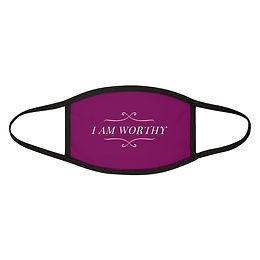 Magenta I AM WORTHY Mixed-Fabric Face Mask