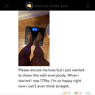 Screenshot of weight loss scale