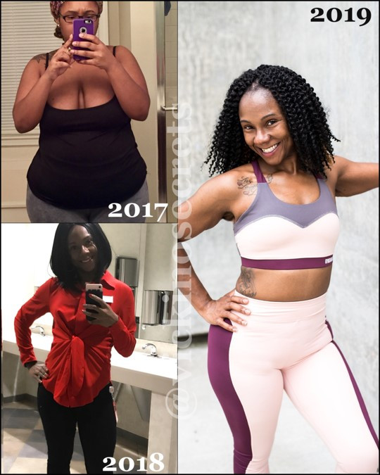 Victoria Weight Loss Journey from 2017 to 2019