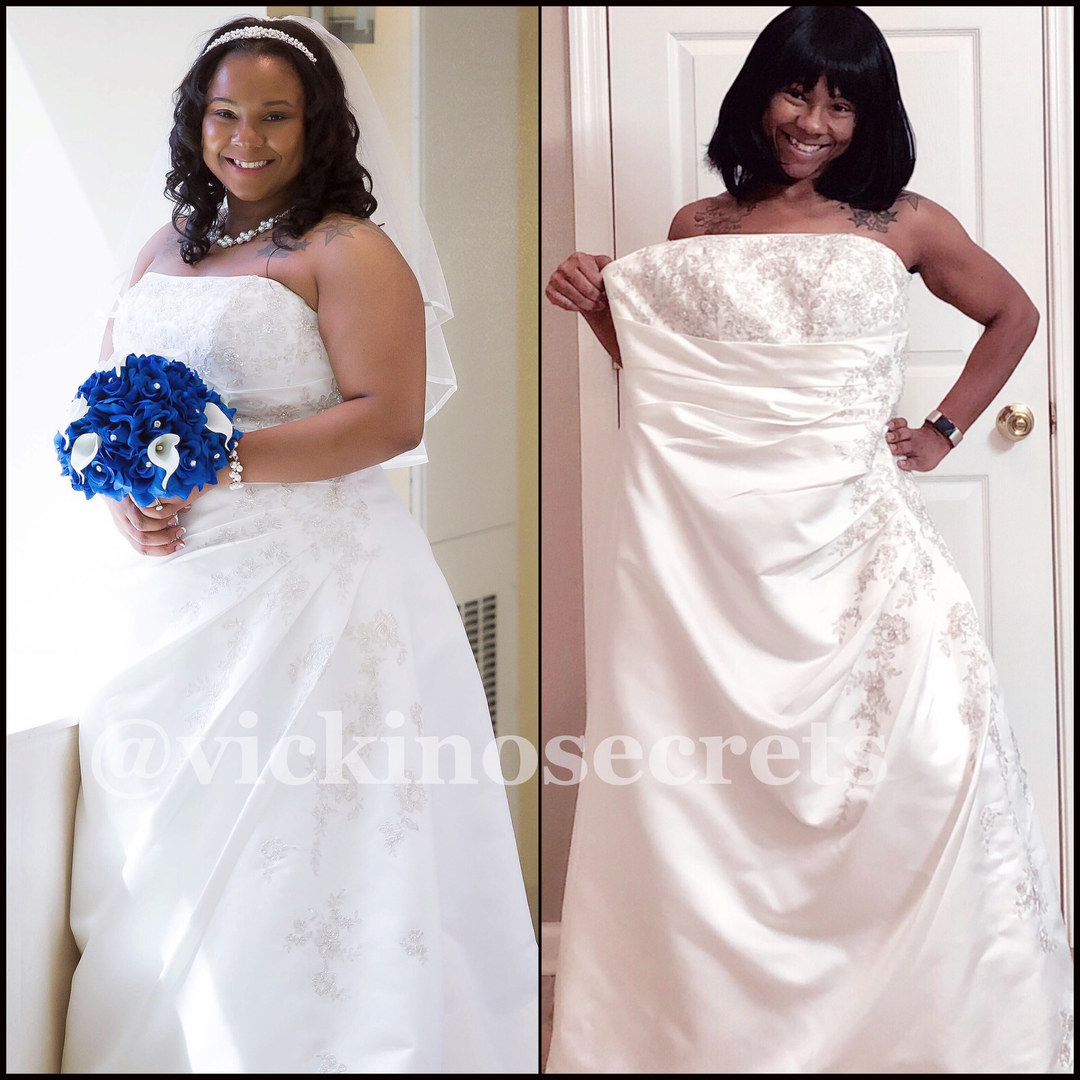 Wedding Dress Before & After
