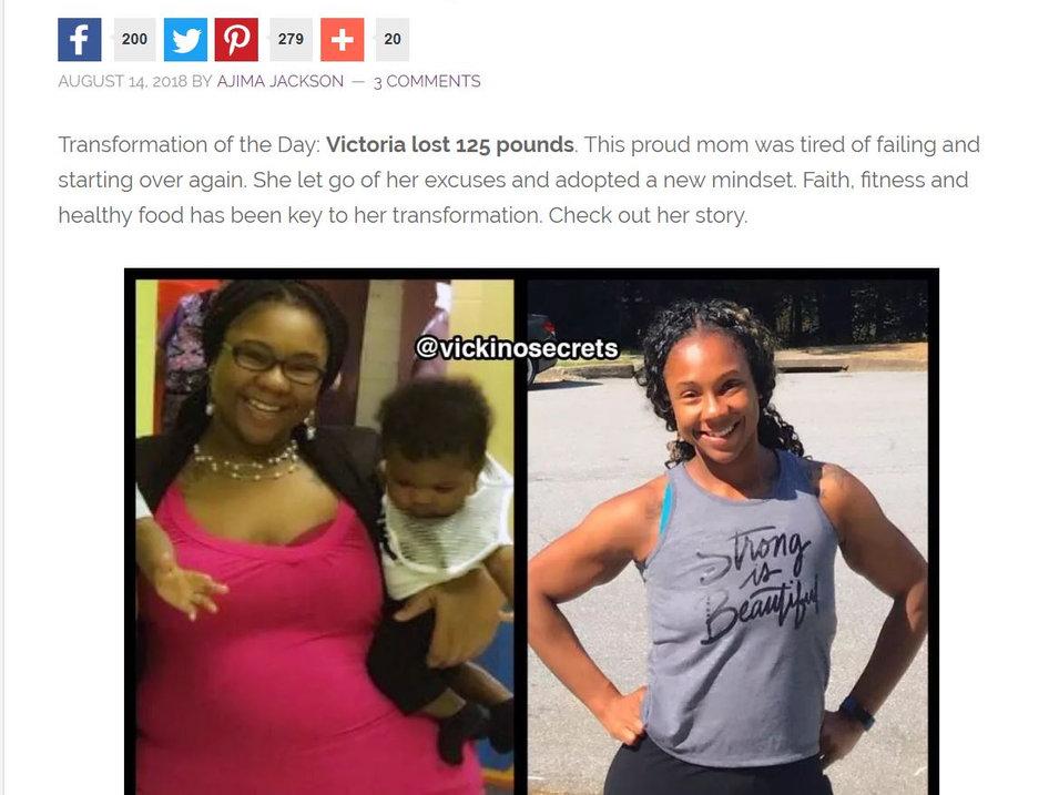 Black Women Losing Weight