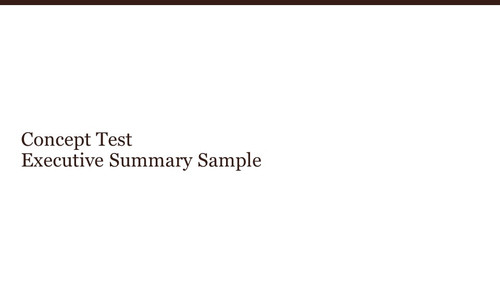 Concept Test Executive Summary