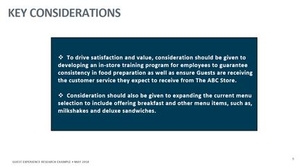 Customer Experience Study