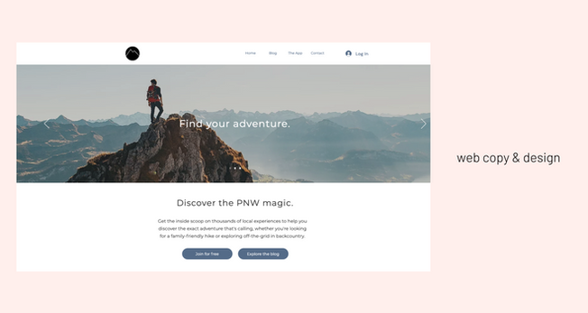 web design & copy