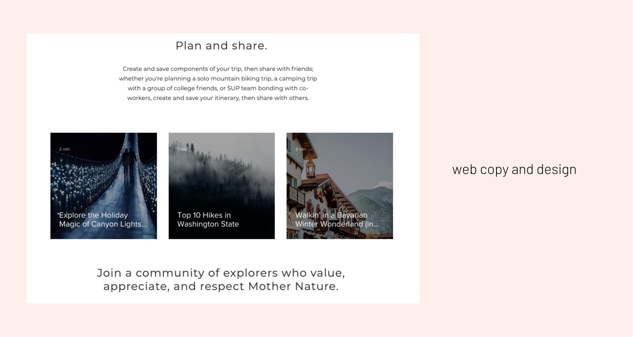 web copy & design