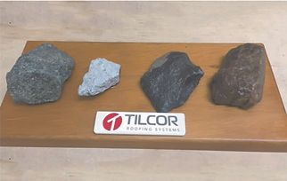 Tilcor Roofifng systems natural coloured stone