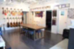 Tone Labs Music Lounge, resting area, comfortable, space, cozy, aesthetic, music school, lounge, chill, ukeleles, guitar, music lessons, music classes, musical, clean, organized, spacious