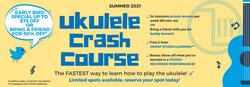 Summer 2021 Ukulele Program For All Ages and Levels