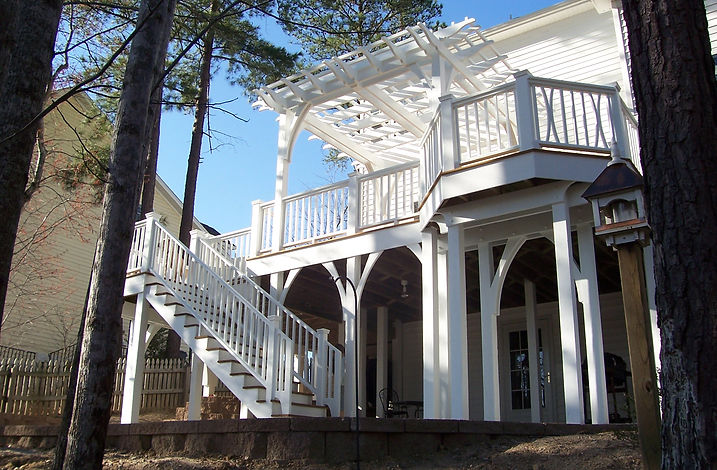 Outdoor-living-deck-addition-apex-raleigh-nc