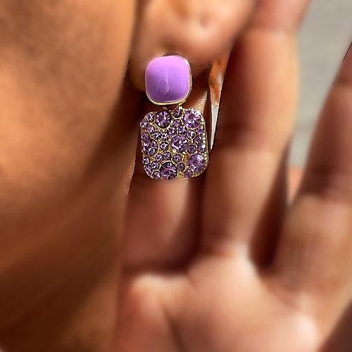 """""""Lilac Shinin'"""" Small Drop Earrings"""
