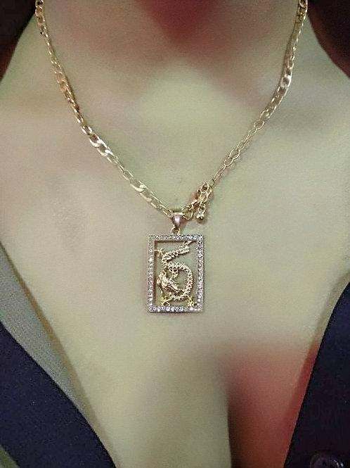 """Icy Dragon"" Pendant Necklace"